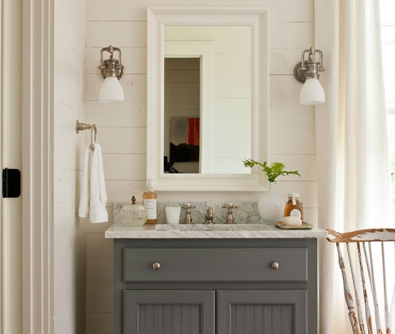 Grout cottage bathroom design the estate of things - Gray bathroom decor ideas ...