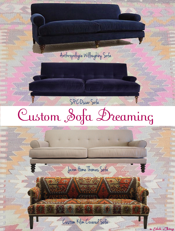 Custom Sofa Dreaming Kilim Covered Couch The Estate of Things