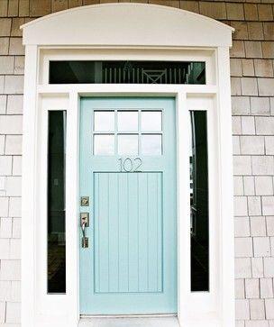 blue wythe door