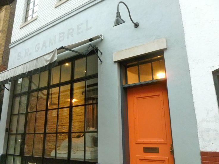 orange gambrel door