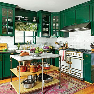 Green kitchen cabinets 2016 kitchen trends the estate - Green cabinets in kitchen ...