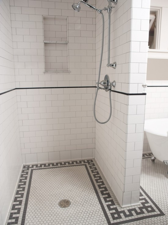 classic subway tile bathroom renovation trends hex tile the estate of things 17754