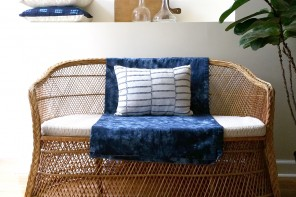 Lotty-Dotty-we-like-to-Pahty-on-Rattan-PILLOW-vintage-african-textiles-by-The-Estate-of-Things